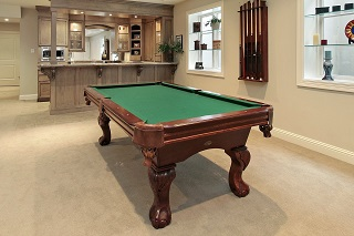 Visalia pool table room sizes image 1
